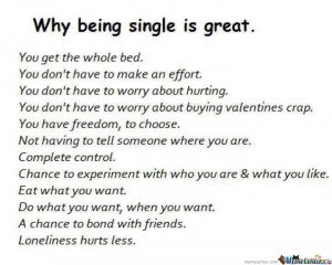 Being Single Is Great!