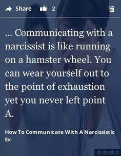 Narcissistic men life in a gerbil wheel More