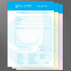 Invoice Books can be designed to be duplicate, triplicate or more ...