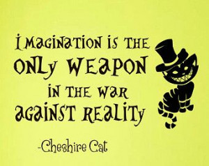 Wall Decals Alice in Wonderland Cheshire Cat Quote Decal Imagination ...