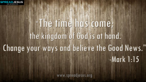 Holy Bible Quotes HD-Wallpaper download the kingdom of God is at hand ...