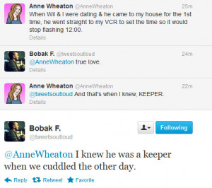 So Wil Wheaton's wife and Nasa's mohawk guy have been tweeting ...