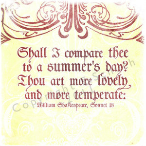 Shakespeare Quotes Summer Love ~ Shakespeare Love Quote Prints ...