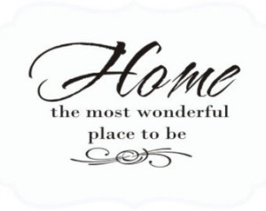 ... the most wonderful place to be House Quotes Lettering Words Wall Decal