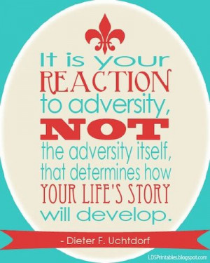 LDS Printables: Your Reaction to Adversity