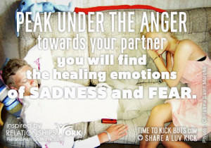 Healing Emotions: Peek under the anger towards your partner; you will ...