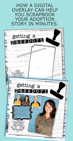 ... Adoption Gift, Copen Speak, Adoption Scrapbook, Digital Overlay