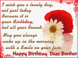 Birth Day Quotes & Wishes For Brother