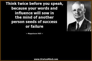 Smart Quotes About Success Quote by: napoleon hill