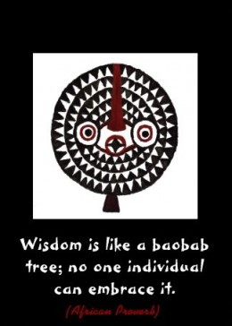 Quote Card featuring Bwa African Mask Painting