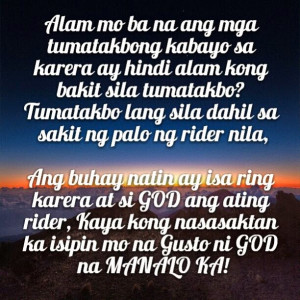 Tagalog Inspirational Quotes, GOD, Pain, Winning | Tagalog Quotes