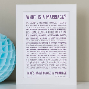 is marriage poem typographic print £ 14 00 a witty and warm marriage ...