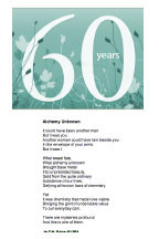60th Wedding Anniversary Poems Quotes