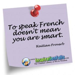 Funny Haitian Wisdom