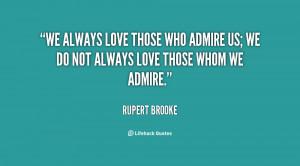 Admire Love Quotes
