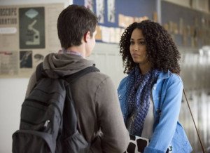 ... of Robbie Amell and Madeleine Mantock in The Tomorrow People (2013