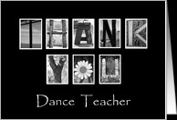 Dance Teacher - Thank You - Alphabet Art card - Product #922630