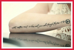 Inspirational Tattoo...