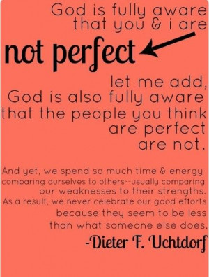 We are not perfect. But we are loved.