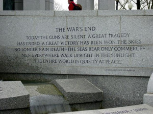 World War II Memorial: General MacArthur quote