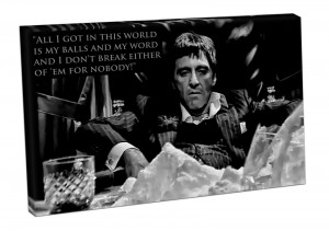 Canvas-art-print-ready-to-hang-SCARFACE-TONY-MONTANA-quote