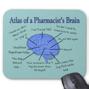 Atlas Of A Pharmacist's Brain-Hilarious Mouse Pads