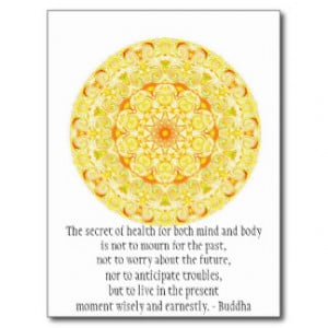 Beautiful Buddhist Quote with Vibrant Mandela Post Card