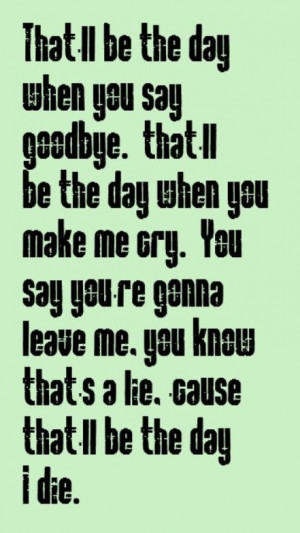 Linda Ronstadt - That'll Be the Day - song lyrics, songs, music lyrics ...