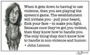 Non-violence!