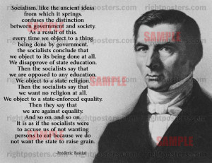 Frederic Bastiat Socialism Quote Poster