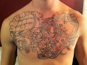 Motivational Chest Tattoo