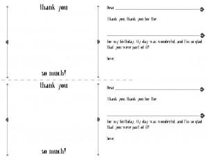 Thank You Cards Printable › Thank You Stationary Printable Kids
