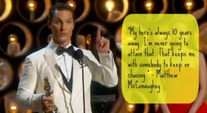 Matthew McConaughey spoke of himself — in 10 years — being his ...
