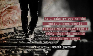 Being Broken Quotes Letting About