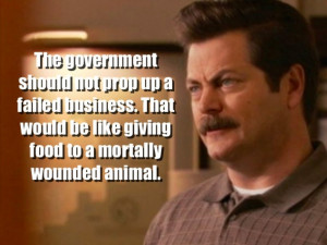 Ron Swanson's 12 wisest quotes about the government [PHOTOS]