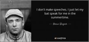 Honus Wagner Quotes