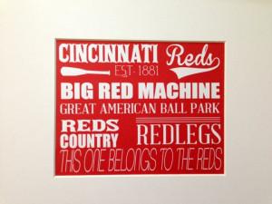 Cincinnati Reds Wall Art, Reds Baseball Sign, Cincinnati Reds Gift ...