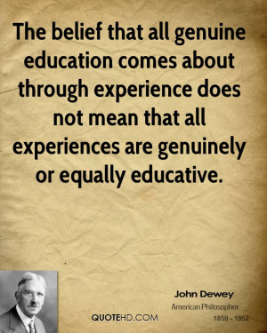 John Dewey Education Quotes