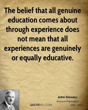John Dewey Education Quotes