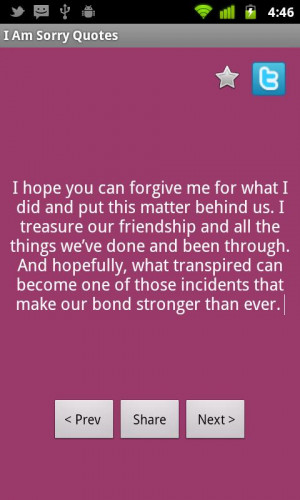 Sorry Quotes - Entertainment Android Apps on androlicious.