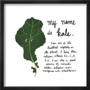 Mr Kale Vegetable Art Print