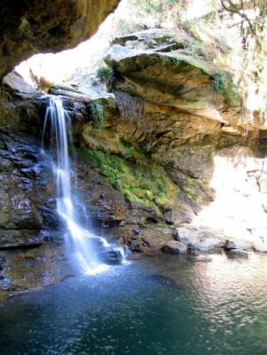 Une cascade dans une forêt africaine
