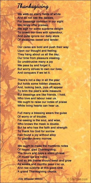 Thanksgiving poems 1