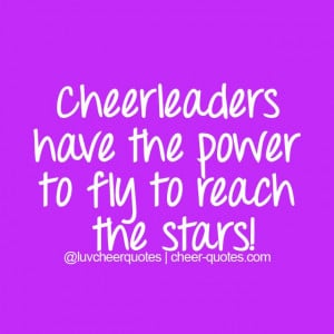 Cheerleaders have the power to fly to reach the stars! #cheer # ...