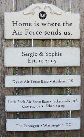 ... MILITARY FAMILY KEEPSAKE Signs. Include Quote, Family Name, Military