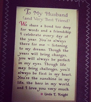 one lucky woman to have such an amazing man in my life! Mr ...