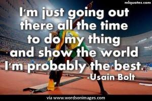 Quotes by usain bolt