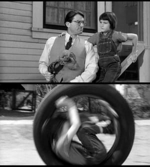 Mary Badham (with Gregory Peck ) as Scout in To Kill a Mockingbird ...