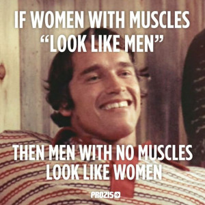 If women with muscles