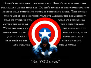 captain america typography bullshit manipulation 1440x1080 wallpaper ...